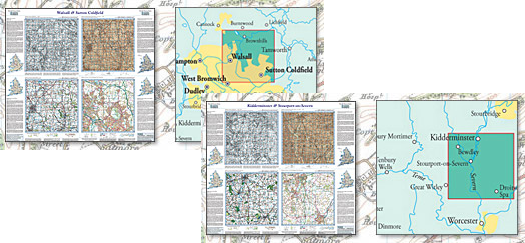 Past & Present Folded Sheet Maps