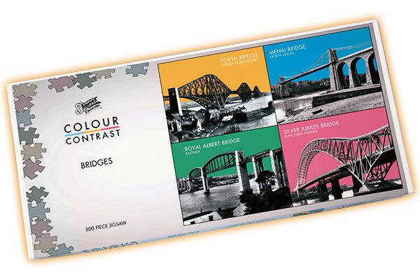 Colour Contrast Jigsaw - Bridges